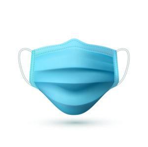 Простая синяя медмаска