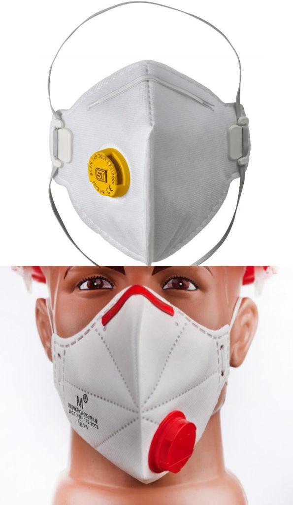 Две фотографии защитных средств от инфекций
