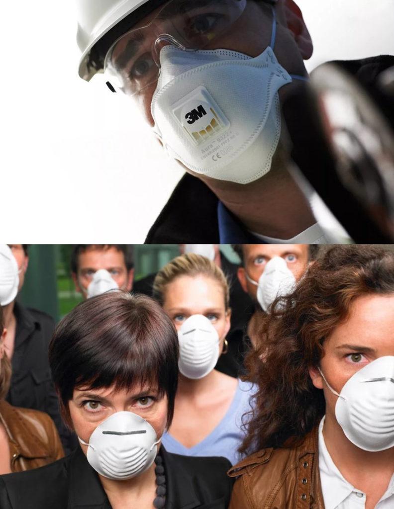 Люди спасаются от пандемии